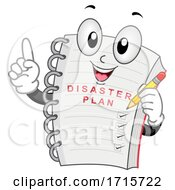 Mascot Disaster Plan Note Book Illustration