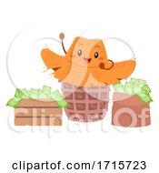 Poster, Art Print Of Mascot Farmers Hat Money Income Illustration