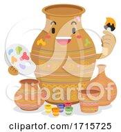 Poster, Art Print Of Mascot Jar Painting Pots Illustration