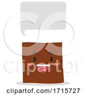 Mascot Leather Speech Bubble Illustration