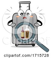 Mascot Luggage Alcohol Drink Illegal Illustration
