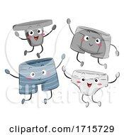 Mascot Men Underwear Illustration