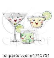 Mascot Martini Mojito Margarita Illustration