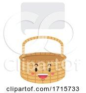 Mascot Basket Speech Bubble Illustration