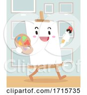 Poster, Art Print Of Mascot Canvas Art Walk Illustration