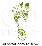 Green Foot Print Illustration