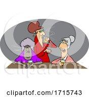 Poster, Art Print Of Cartoon Old Ladies Drinking Whiskey And Smoking