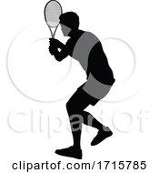 06/06/2020 - Tennis Silhouette Sport Player Man