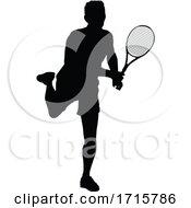 Poster, Art Print Of Tennis Silhouette Sport Player Man