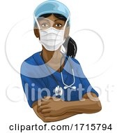 06/06/2020 - Doctor Or Nurse Woman In Medical Scrubs And PPE