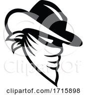 Black And White Cowboy Bandit