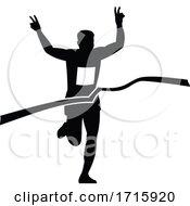 Poster, Art Print Of Victorious Marathon Runner