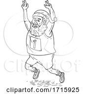 Santa Running A Marathon