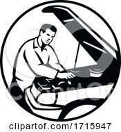 Auto Mechanic Repairing Automobile
