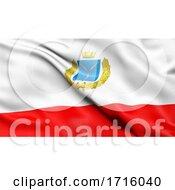 Flag Of Saratov Oblast Waving In The Wind