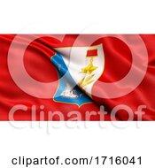 Flag Of Sevastopol Waving In The Wind