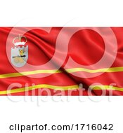 Flag Of Smolensk Oblast Waving In The Wind