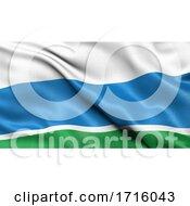 Flag Of Sverdlovsk Oblast Waving In The Wind