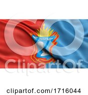 Flag Of Tambov Oblast Waving In The Wind