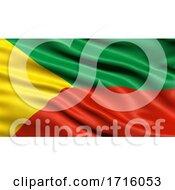 Flag Of Zabaykalsky Krai Waving In The Wind