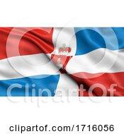 Flag Of Perm Krai Waving In The Wind