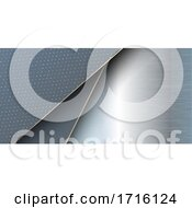 Banner With Brushed Metal Design