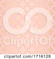 Elegant Pattern Background In Gold And Pink