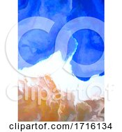 Hand Painted Watercolour Beach Abstract