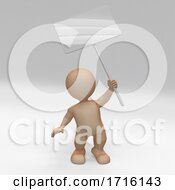 3D Morph Man With Sign Protesting