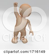 3D Morph Man With Fist Raised Protesting