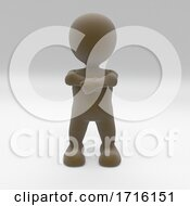 3D Morph Man With Arms Folded Protesting Peacefully