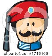 Greek Evzone Cartoon Face