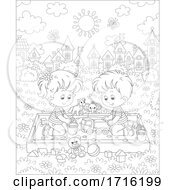 Poster, Art Print Of Children Playing In A Sand Box