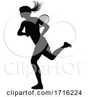 06/10/2020 - Tennis Silhouette Sport Player Woman