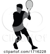06/10/2020 - Tennis Silhouette Sport Player Man