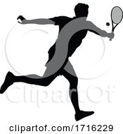 06/09/2020 - Tennis Silhouette Sport Player Man