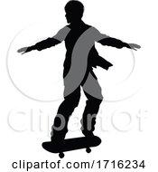 06/10/2020 - Silhouette Skater Skateboarder