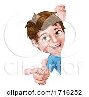 06/10/2020 - Kid Cartoon Boy Child Pointing Sign
