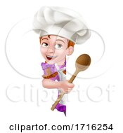 06/10/2020 - Kid Cartoon Girl Chef Cook Baker Child Sign