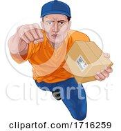 06/10/2020 - Delivery Superhero Delivering Package Parcel