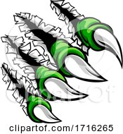 Poster, Art Print Of Monster Claw Hand Ripping Tearing Background
