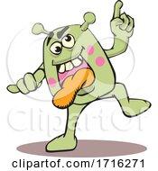 Dancing Germ or Bacteria by David Rey #COLLC1716271-0052
