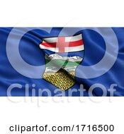 Flag Of Alberta Waving In The Wind