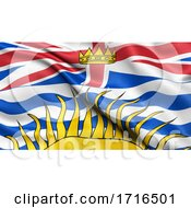 Flag Of British Columbia Waving In The Wind