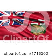 Flag Of Manitoba Waving In The Wind