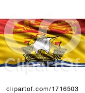 Flag Of New Brunswick Waving In The Wind