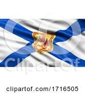 Flag Of Nova Scotia Waving In The Wind