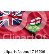Flag Of Ontario Waving In The Wind