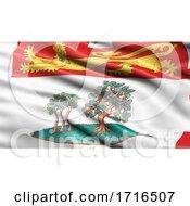 Flag Of Prince Edward Island Waving In The Wind