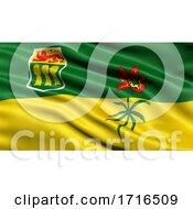 Flag Of Saskatchewan Waving In The Wind